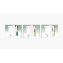 ATLAS MANILA COLOURED DIVIDERS WITH PRINTED TABS