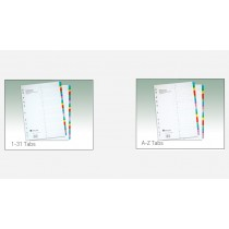 ATLAS MYLAR DIVIDERS WITH PRINTED TABS