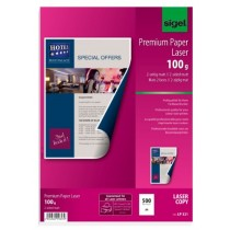 Sigel Photo Paper for Colour Laserprinter/Copier, 2-sided, A4, 200 gsm, 100 sheets, Glossy White