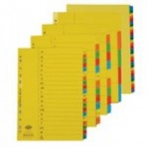 DELUXE A3 CARD BOARD DIVIDERS COLOUR WITH NUMBER