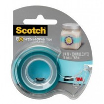 SCOTCH COLOURED TAPES WITH DISPENSER, BACKCARD & PATTERNED TAPES C214