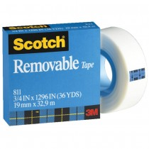 SCOTCH MAGIC TAPE BOXED REMOVABLE 811