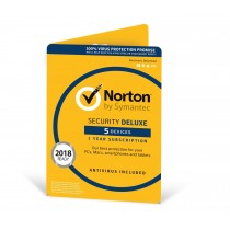NORTON SECURITY DELUXE | 5 Devices | 1 Year | PC/Mac/Android | Download