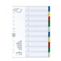 DURABLE COLORED DIVIDERS
