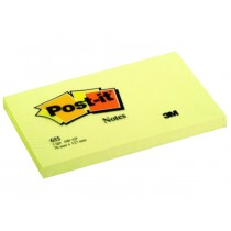 3M Post-it Notes 655, 3 x 5 inches, Canary Yellow