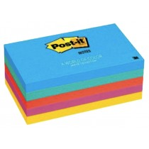 3M Post-it Notes 655-5UC, 3 x 5 inches, 5pads/pack, Ultra Colors