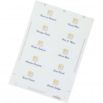 Durable BADGEFIX Self-Adhesive Name Badges, 40 x 75 mm, 240 silk labels, 20 sheets/pack, White