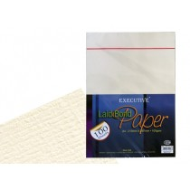FIS Executive Laid Bond Paper A4, 100gsm, 100sheets/pack, Camelle White
