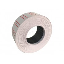 FIS Price Label Roll with Red Lines