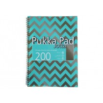 Pukka Pad Jotta Wirebound A4, line ruled, 80gsm, 200sheets/pad, Assorted Colors