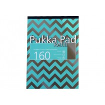 Pukka Pad Refill A4, line ruled, 80gsm, 160sheets/pad, Assorted Colors