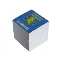 Sinarline Paper Cube White without Gum 9x9x9cm